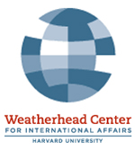 graphical sphere with squares inside with title weatherhead center