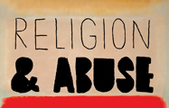 Illustration of words Religion and Abuse